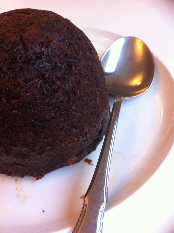 Rich dark Christmas pudding without the guilt