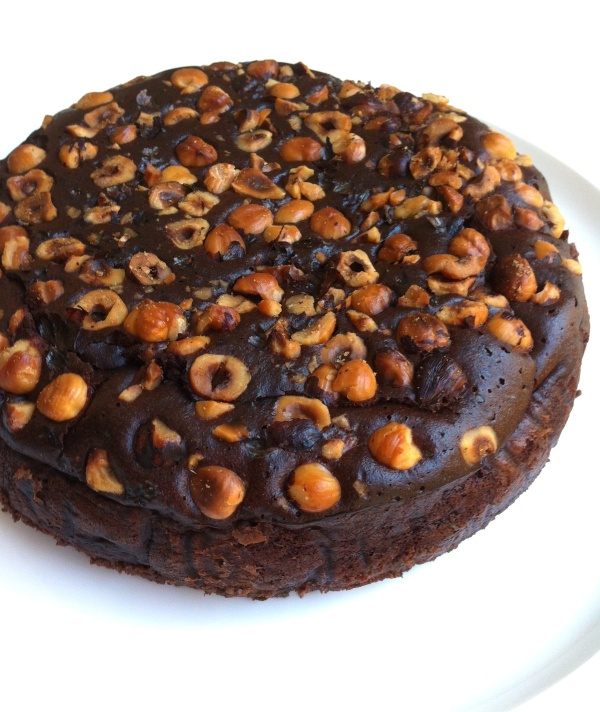 Chocolate Mousse cake with Hazelnuts