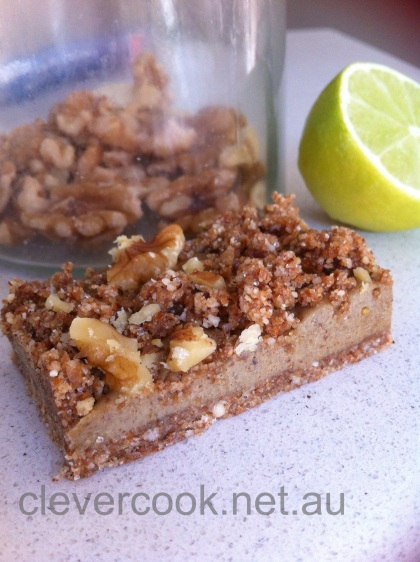 Raw Banana & Walnut slice