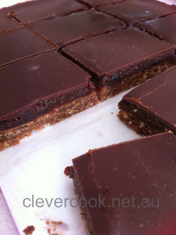 "The ""healthy"" Chocolate Caramel Slice! 