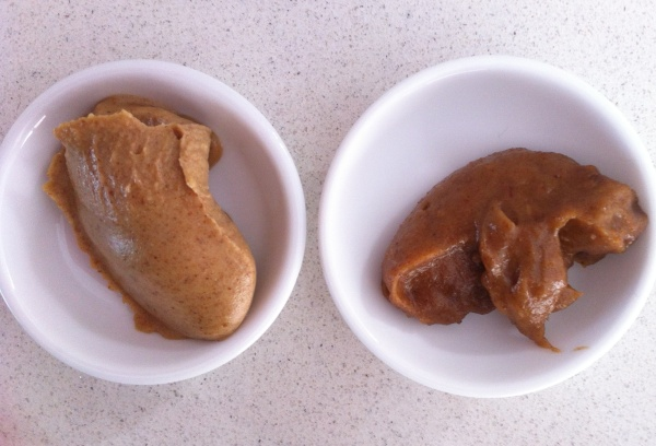 Raw (left) Cooked (right)