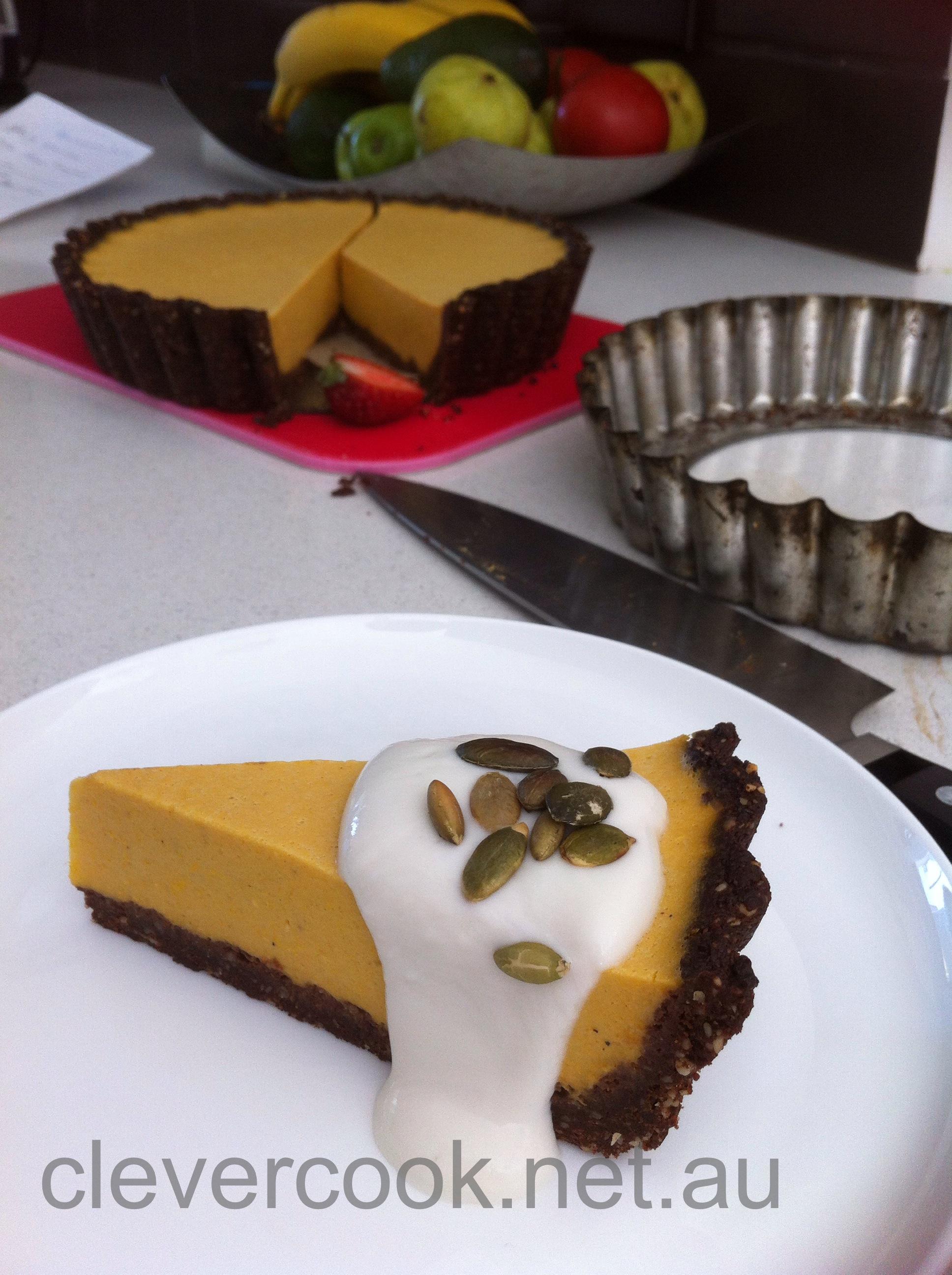 Twisted pumpkin pie or pumpkin pie with a twist clevercook for Pumpkin pie with a twist