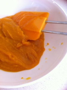 Pumpkin puree ready