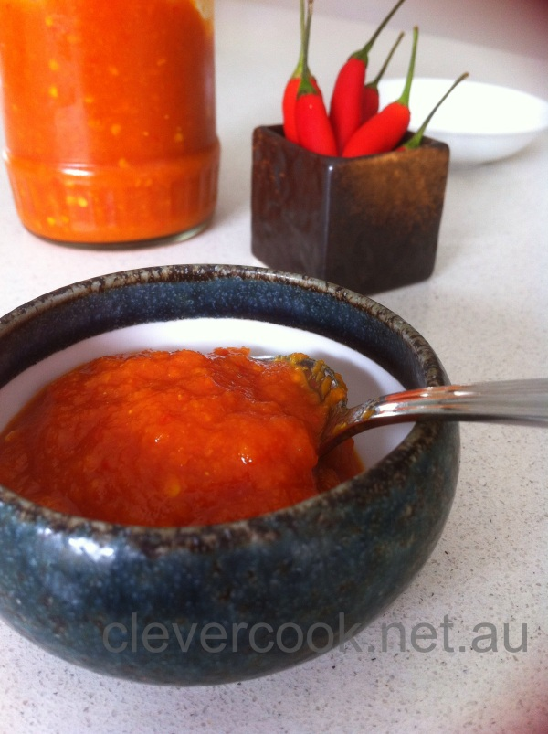 Homemade chilli sauce