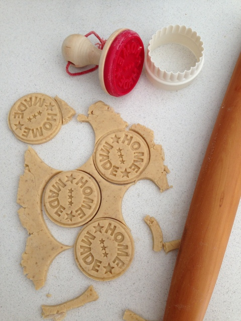Shortbread ready for the oven
