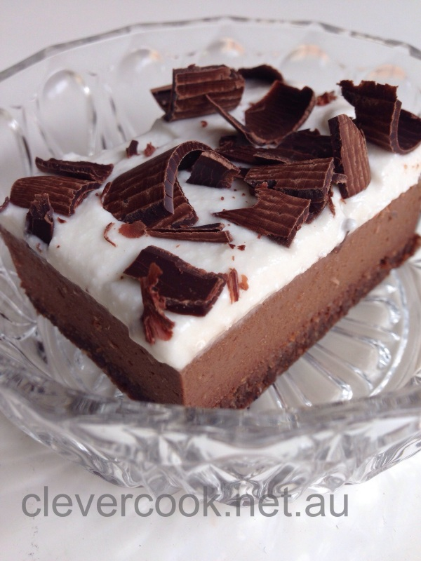 Chocolate Bavarian Slice