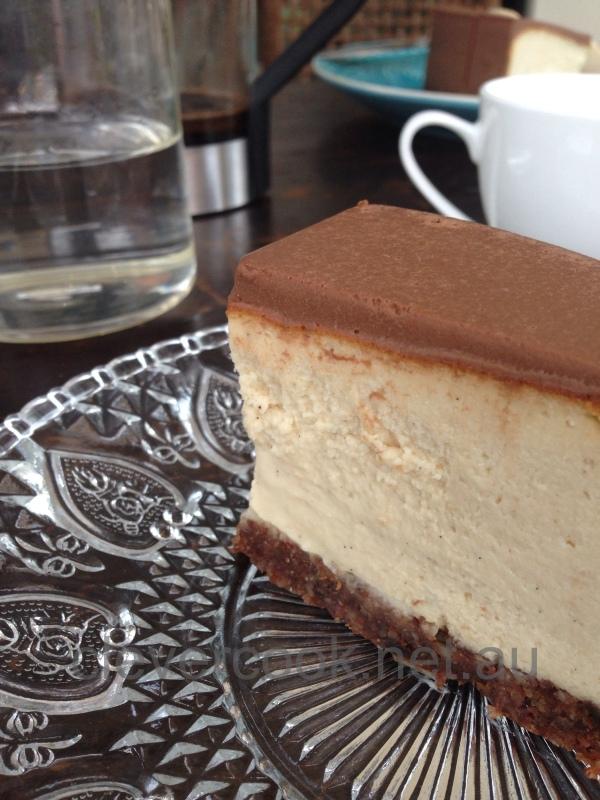 Dairy free gluten free chocolate & vanilla cheesecake