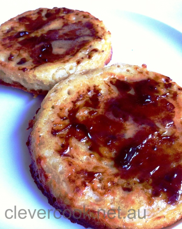 My husband prefers his crumpets with vegemite!