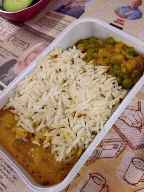 My Hindu vegetarian meal c/- Qantas