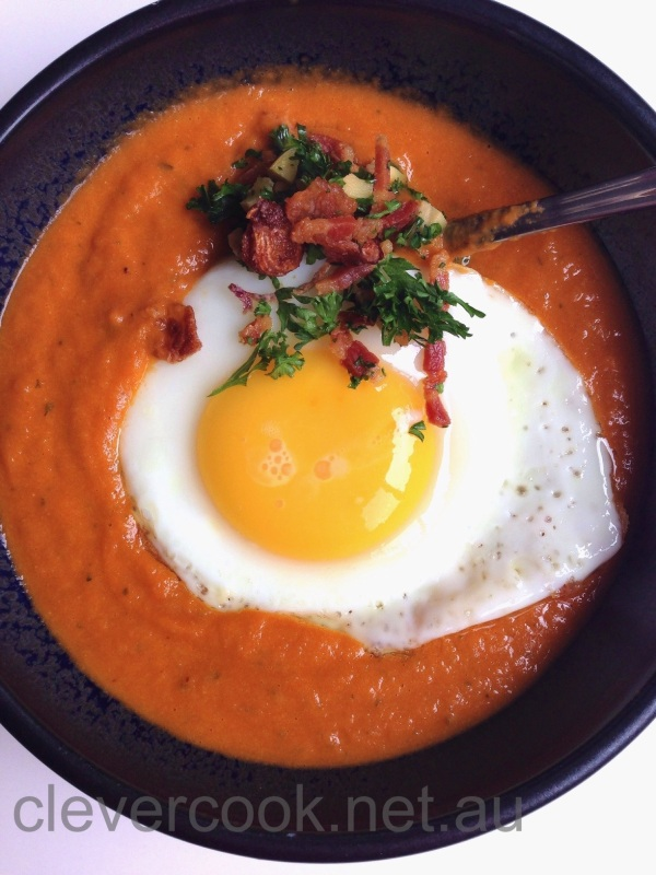I love topping my soups with an egg for a complete meal!