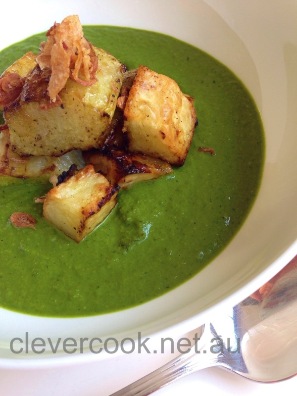 Roasted veges with my saag have a more intense flavour
