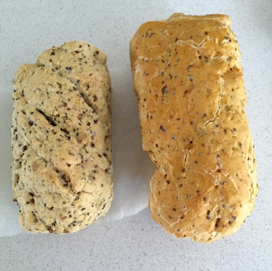Both of these doughs have identical ingredients except that the one on the right has Vitamin C added! What an amazing difference!